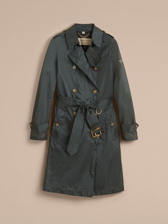 Super-lightweight Trench Coat in Vintage Green - Women | Burberry - cell image 3