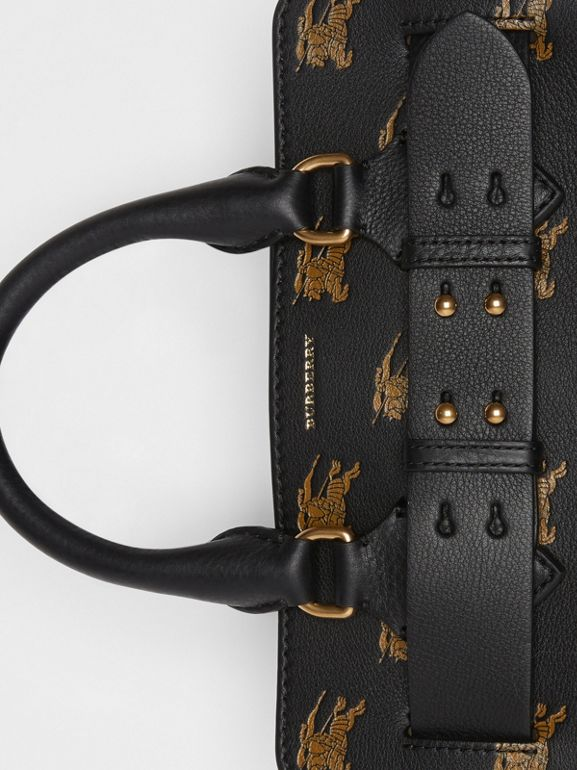 The Small Equestrian Knight Leather Belt Bag in Black - Women | Burberry United Kingdom - cell image 1