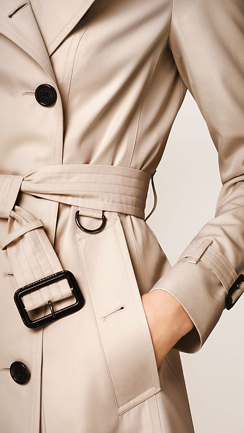 Honey The Sandringham - Short Heritage Trench Coat - Image 4