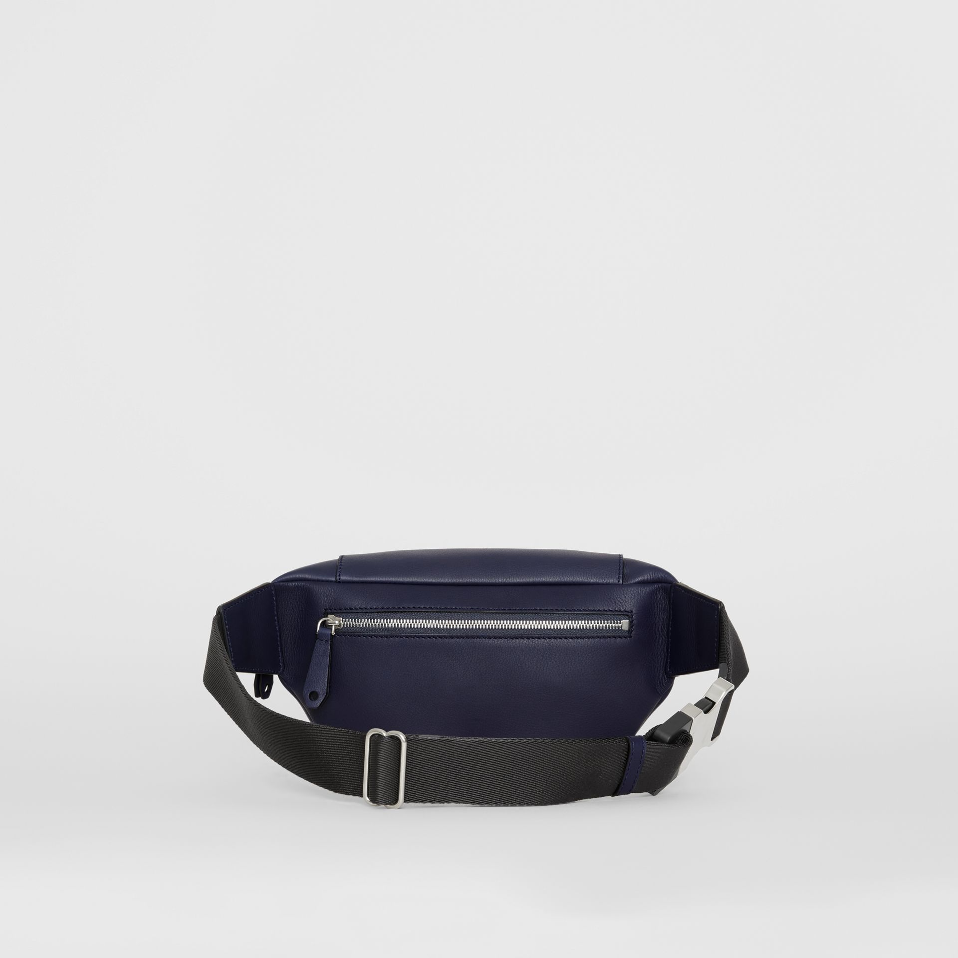 Medium Embossed Crest Leather Bum Bag in Regency Blue | Burberry - gallery image 7