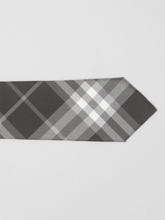 Modern Cut Vintage Check Silk Tie in Black - Men | Burberry Singapore - cell image 1