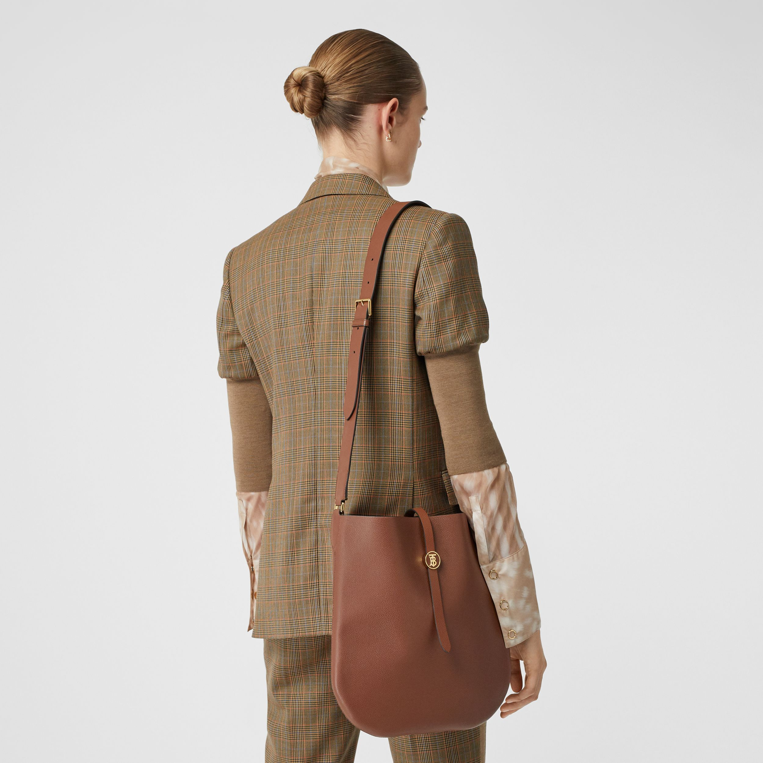 Grainy Leather Anne Bag in Tan - Women | Burberry Australia - 3