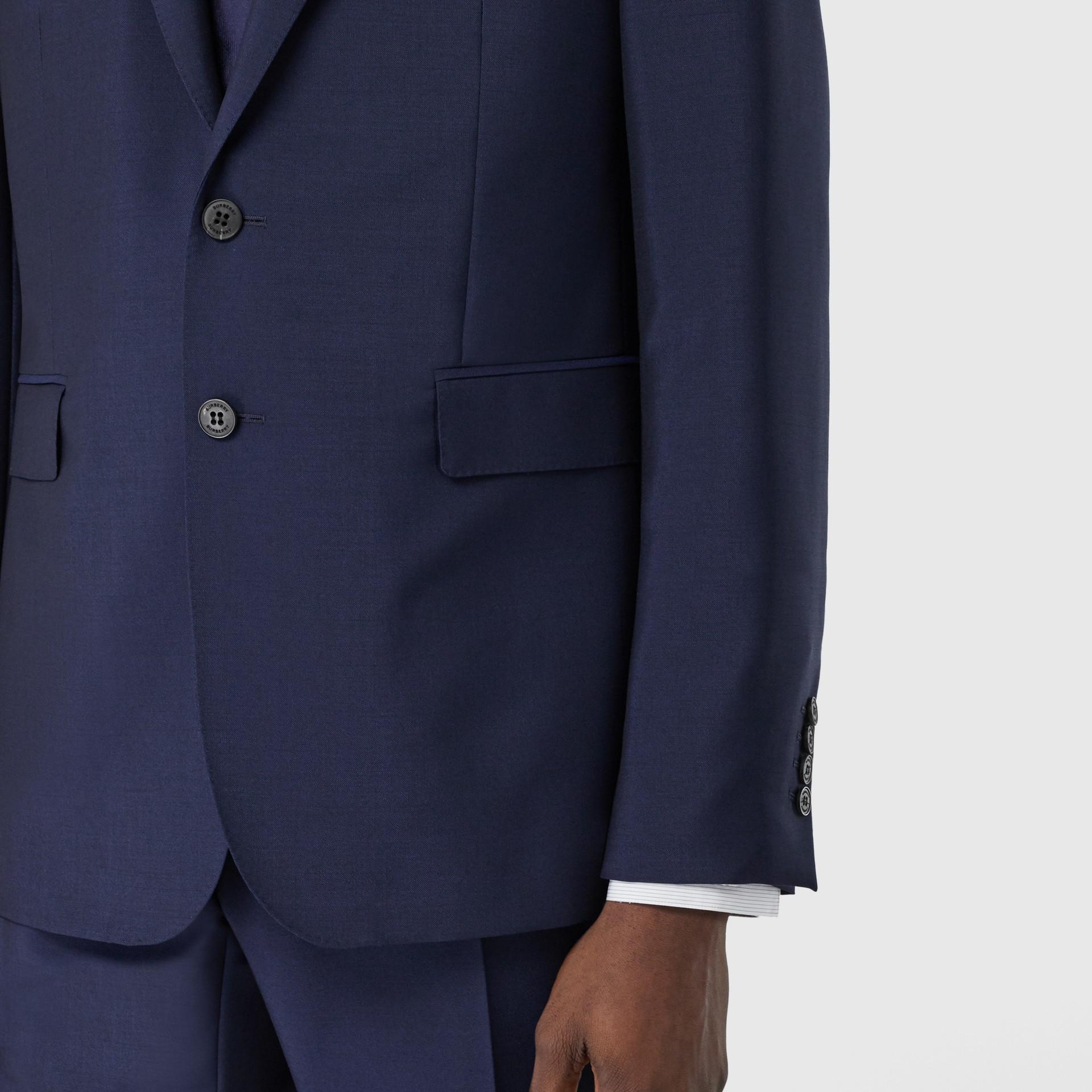 Slim Fit Wool Mohair Suit in Bright Navy - Men | Burberry United Kingdom - gallery image 4