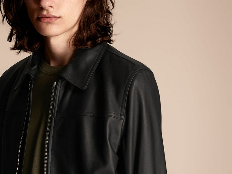 Black Smooth Leather Jacket - cell image 4