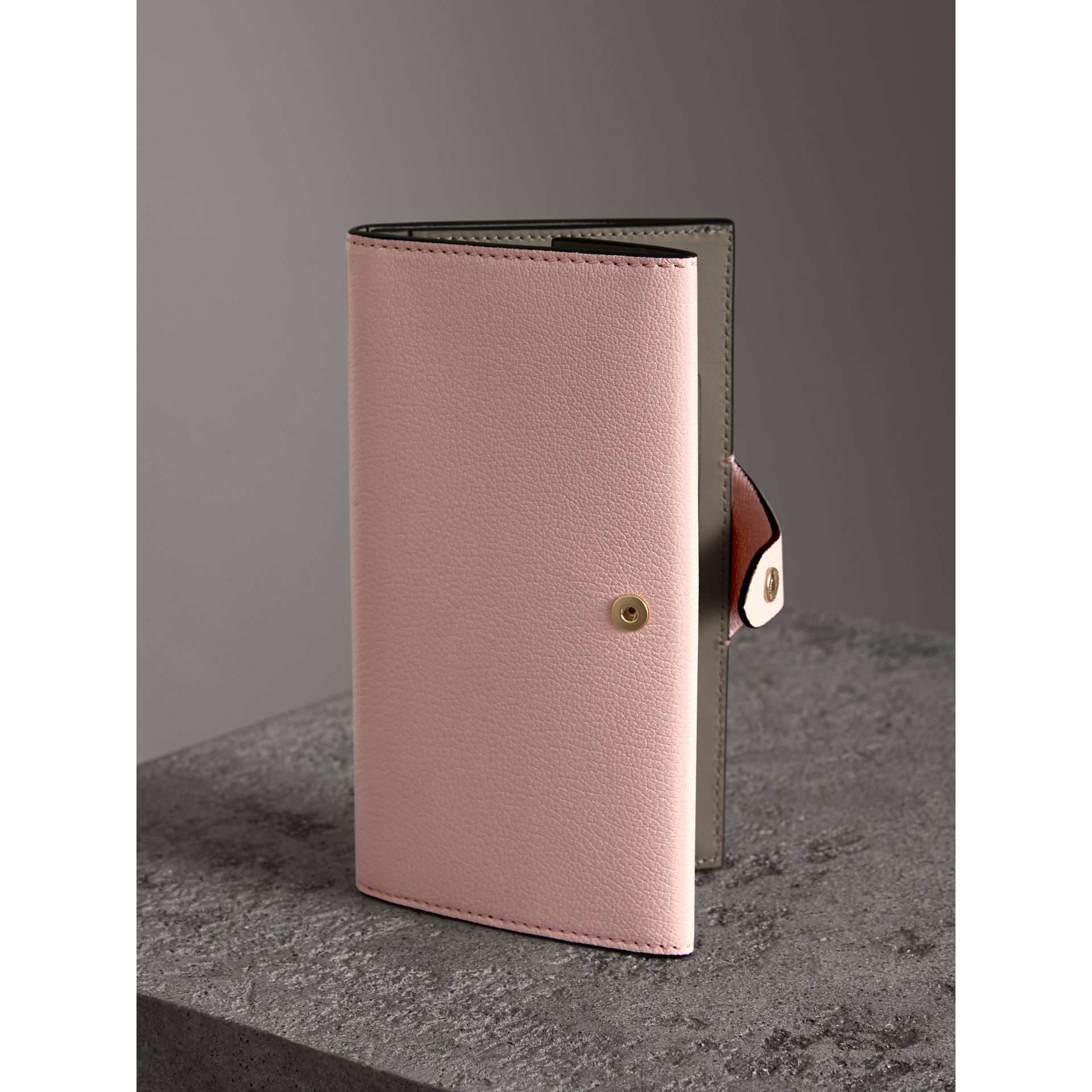 Equestrian Shield Two-tone Leather Continental Wallet in Pale Ash Rose - Women | Burberry United Kingdom - gallery image 2