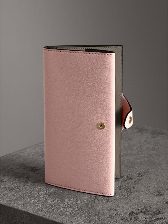 Equestrian Shield Two-tone Leather Continental Wallet in Pale Ash Rose - Women | Burberry Singapore - cell image 2
