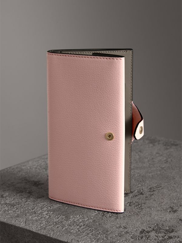 Equestrian Shield Two-tone Leather Continental Wallet in Pale Ash Rose - Women | Burberry United Kingdom - cell image 2