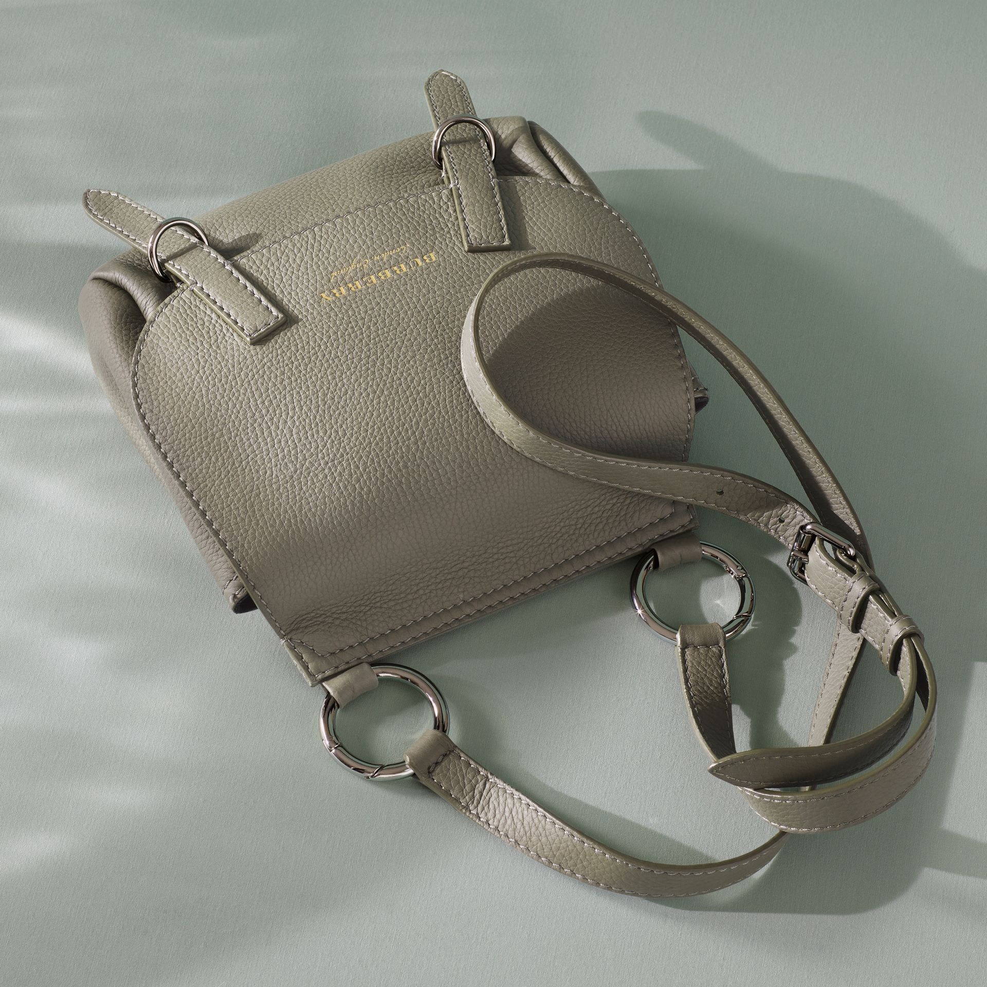 The Bridle Crossbody Bag in Deerskin in Slate Green - Women | Burberry - gallery image 8