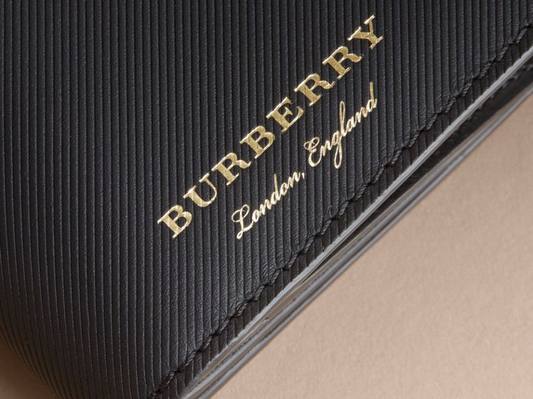Trench Leather Continental Wallet in Black - Men | Burberry Canada - cell image 1