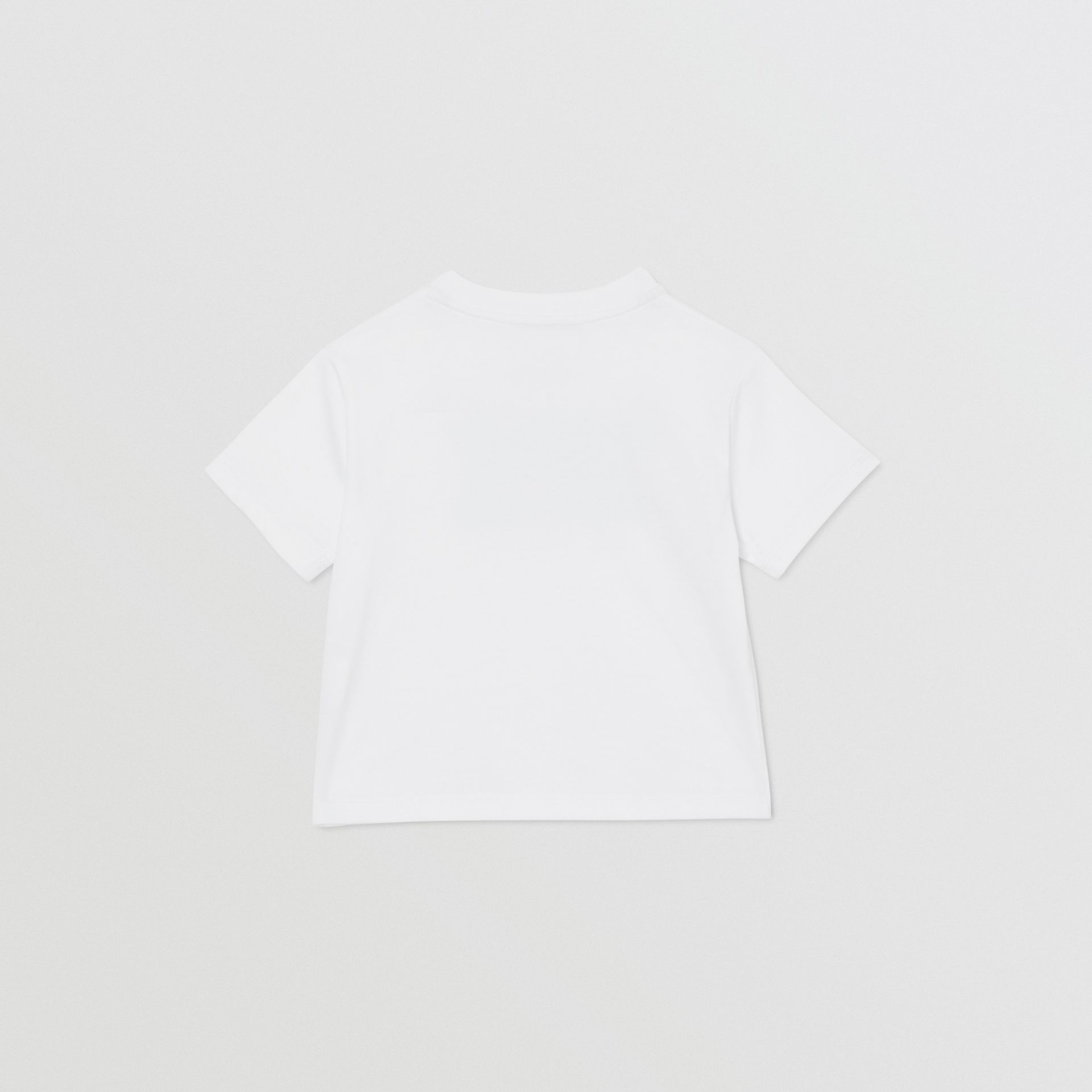 Logo Print Cotton T-shirt in White - Children | Burberry United Kingdom - gallery image 4