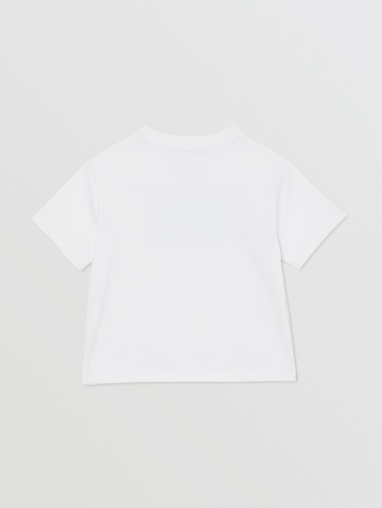 Logo Print Cotton T-shirt in White