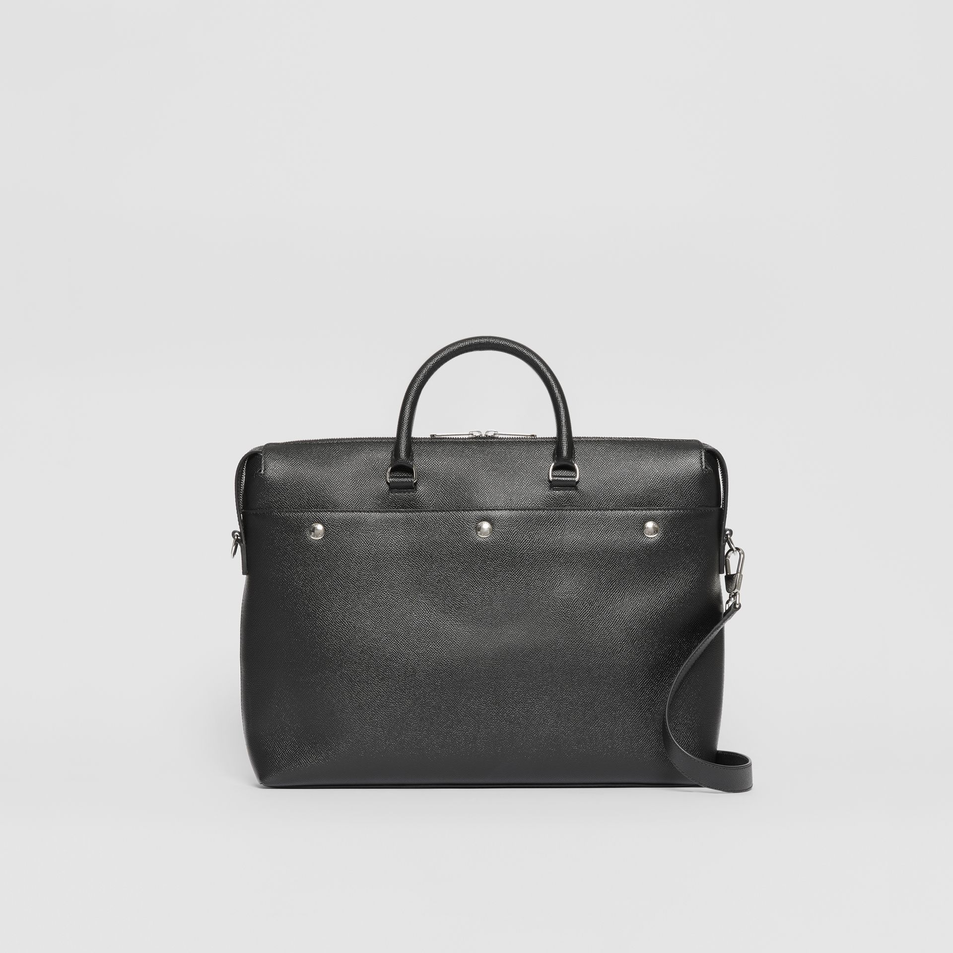 Triple Stud Grainy Leather Briefcase in Black - Men | Burberry Singapore - gallery image 0