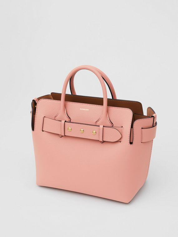 The Small Leather Triple Stud Belt Bag in Ash Rose