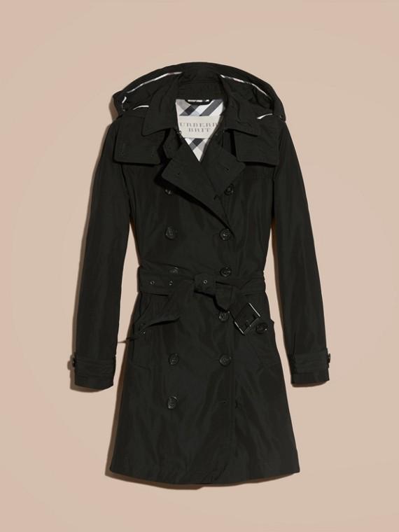 Noir Trench-coat en taffetas à capuche amovible Noir - cell image 3