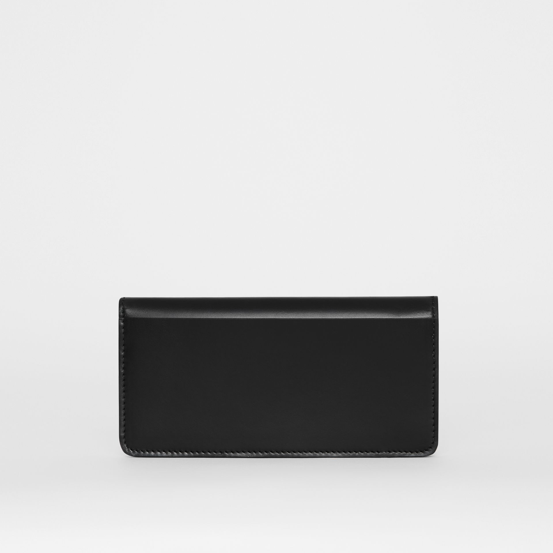 Horseferry Embossed Leather Continental Wallet in Black - Women | Burberry - gallery image 4