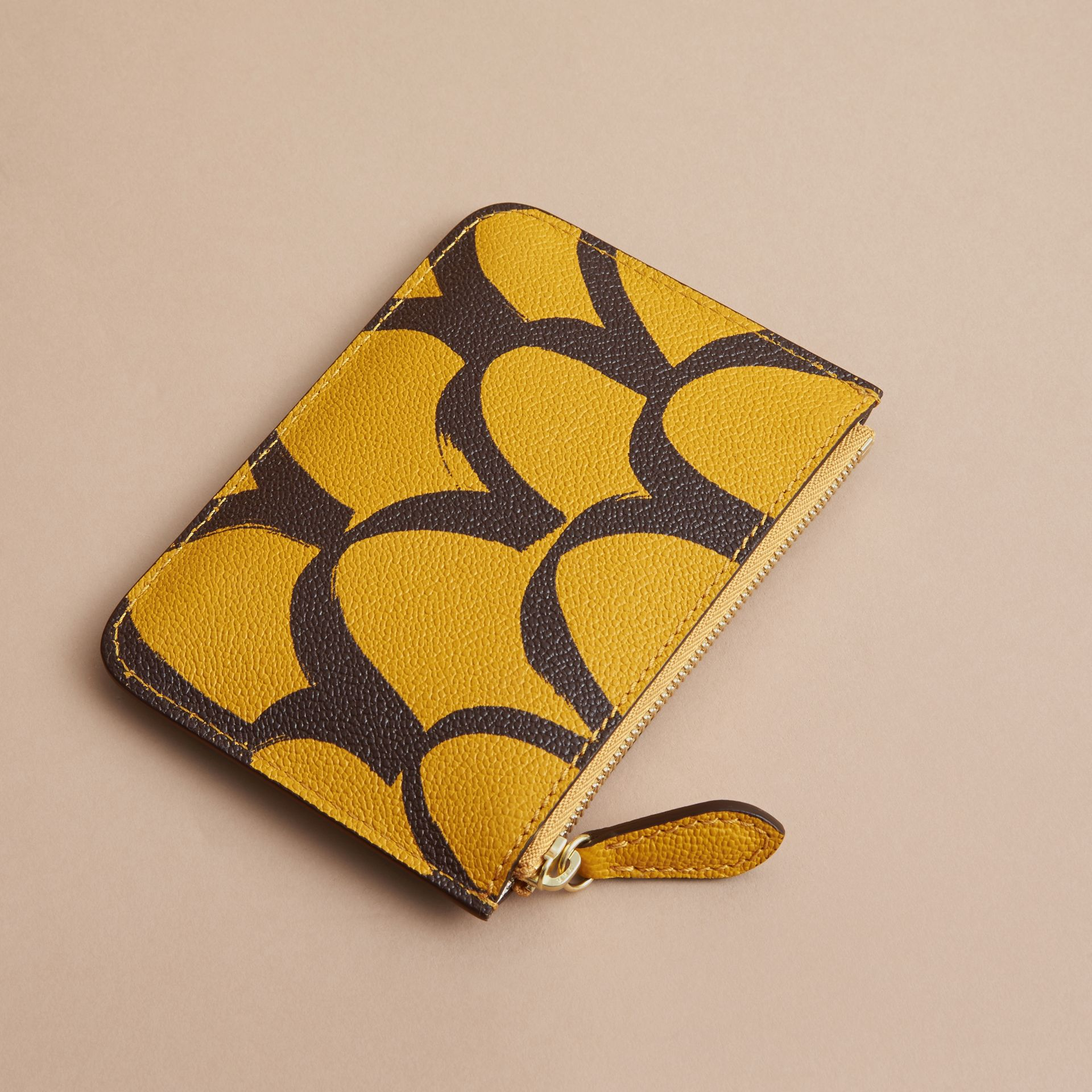 Trompe L'oeil Print Leather Pouch - gallery image 3