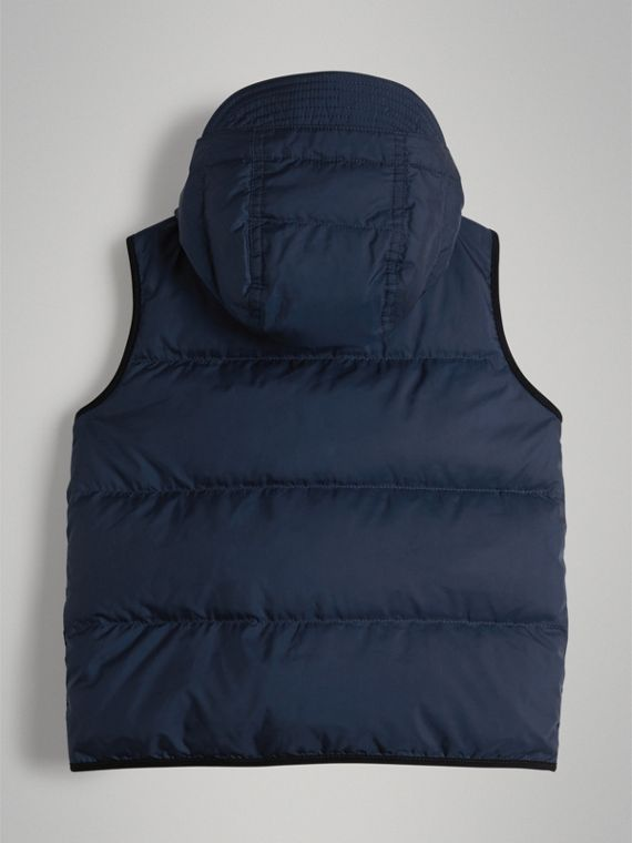 Down-filled Hooded Gilet in Ink Blue - Boy | Burberry - cell image 3