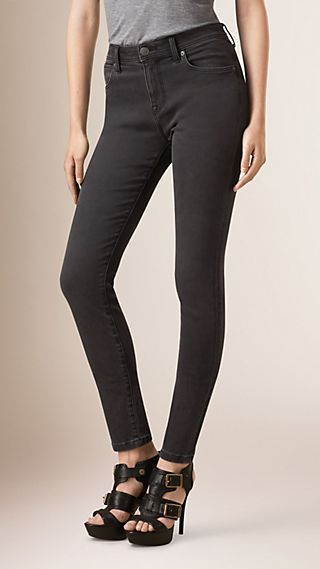 Jean skinny taille haute ultra-stretch