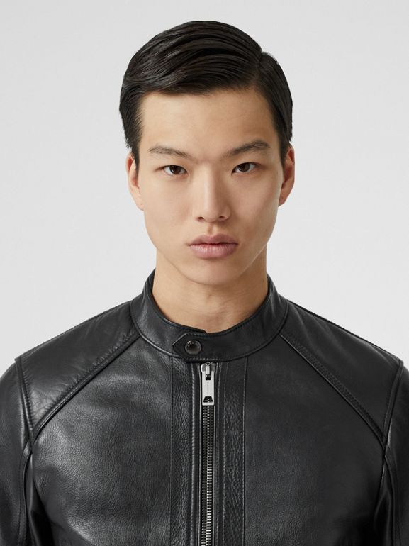 Leather Bomber Jacket in Black - Men | Burberry - cell image 1