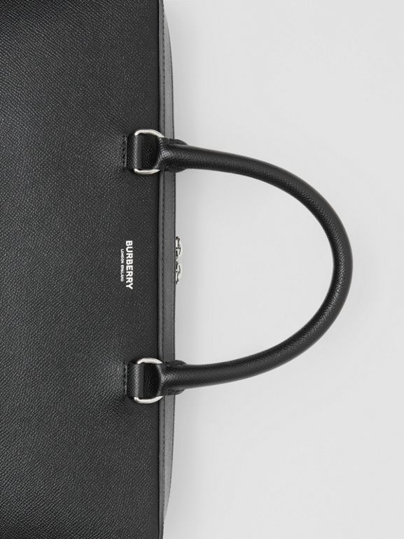 Grainy Leather Briefcase in Black - Men | Burberry - cell image 1