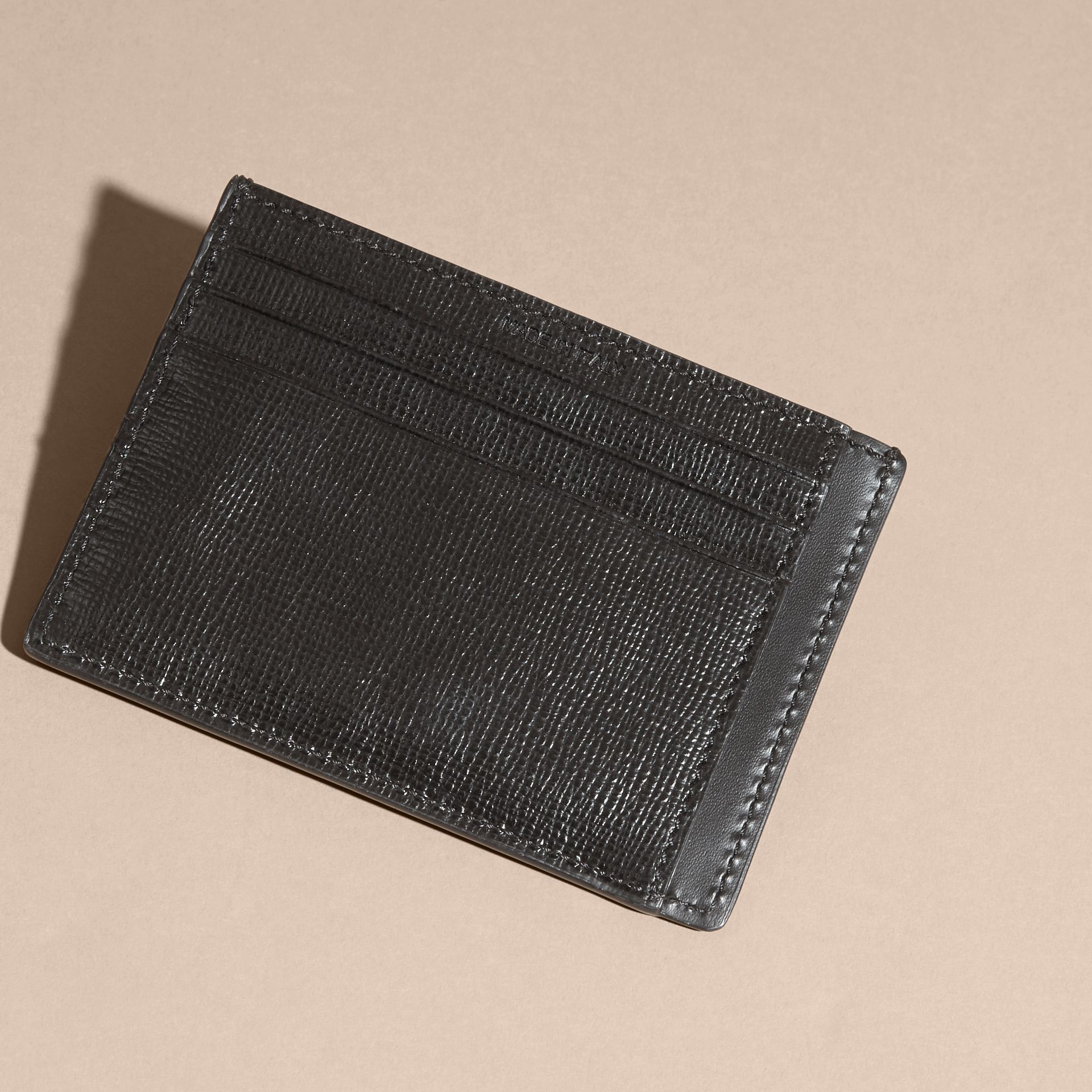 London Leather Card Case in Black - gallery image 4