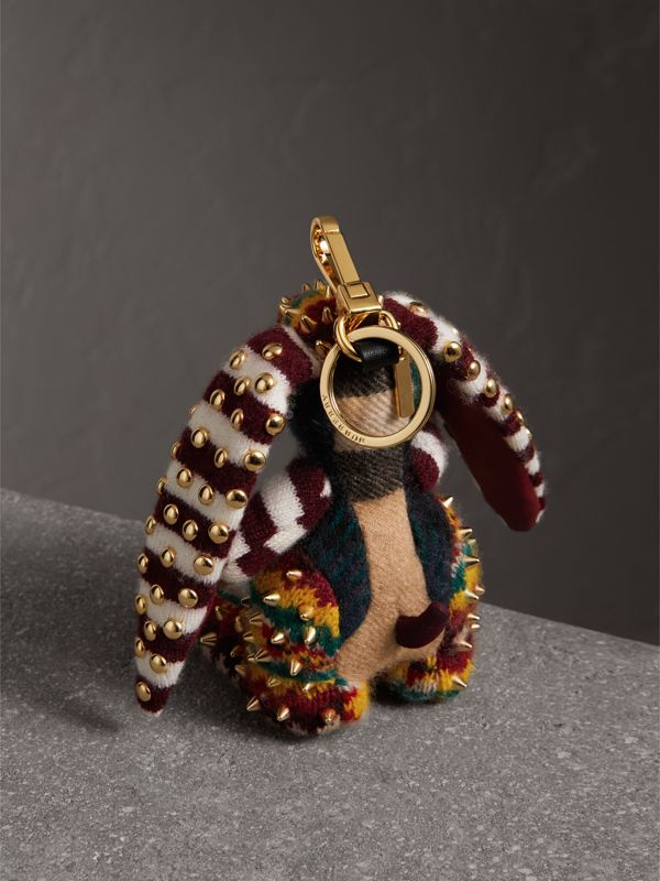 Vera The Hare Cashmere Charm in Multicolour | Burberry - cell image 3