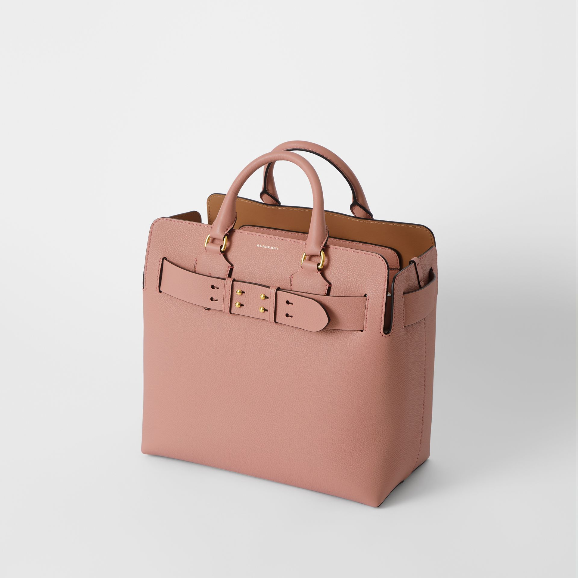 The Medium Leather Belt Bag in Ash Rose - Women | Burberry Australia - gallery image 4