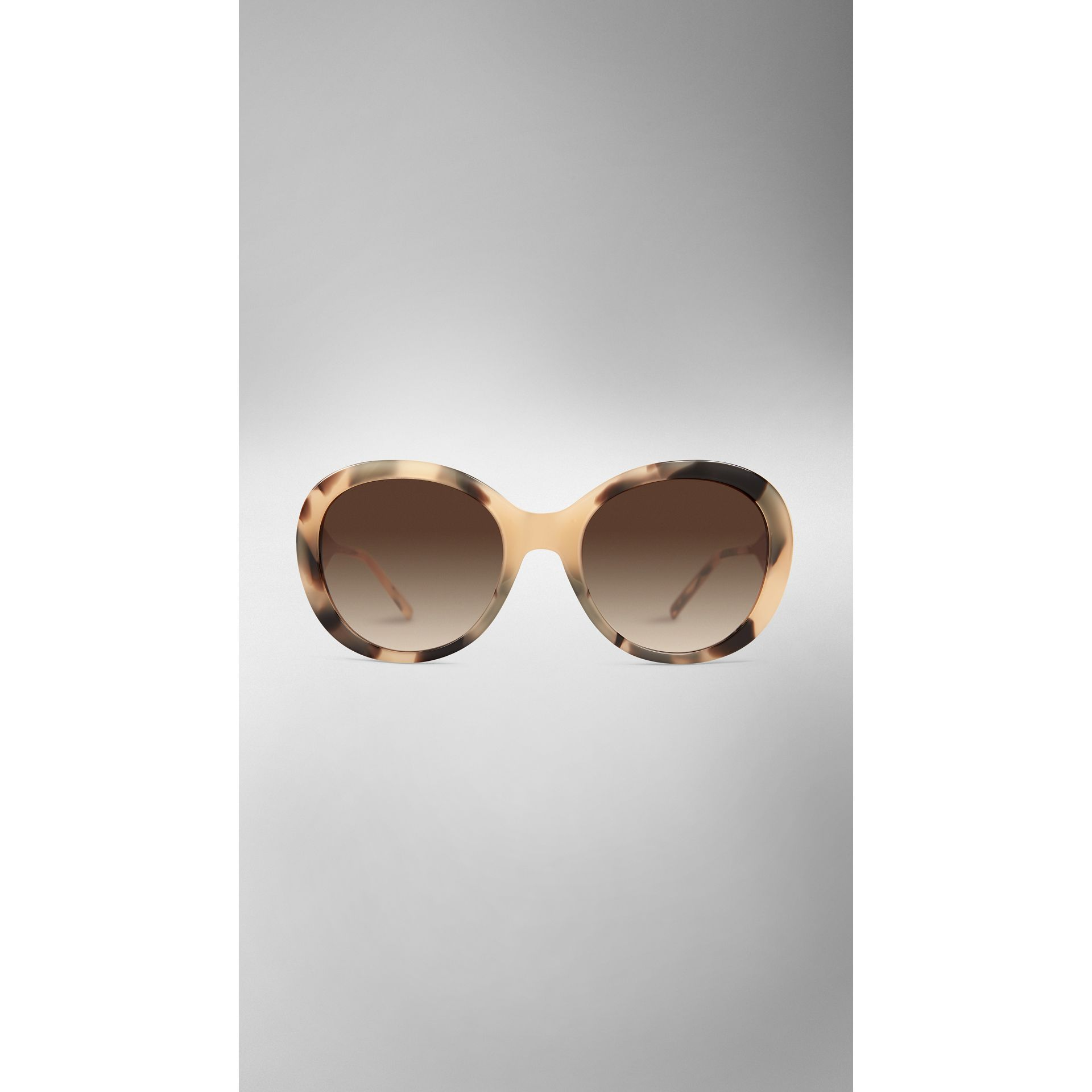 Gabardine Collection Oversize Round Frame Sunglasses Mid Tone Horn - gallery image 2
