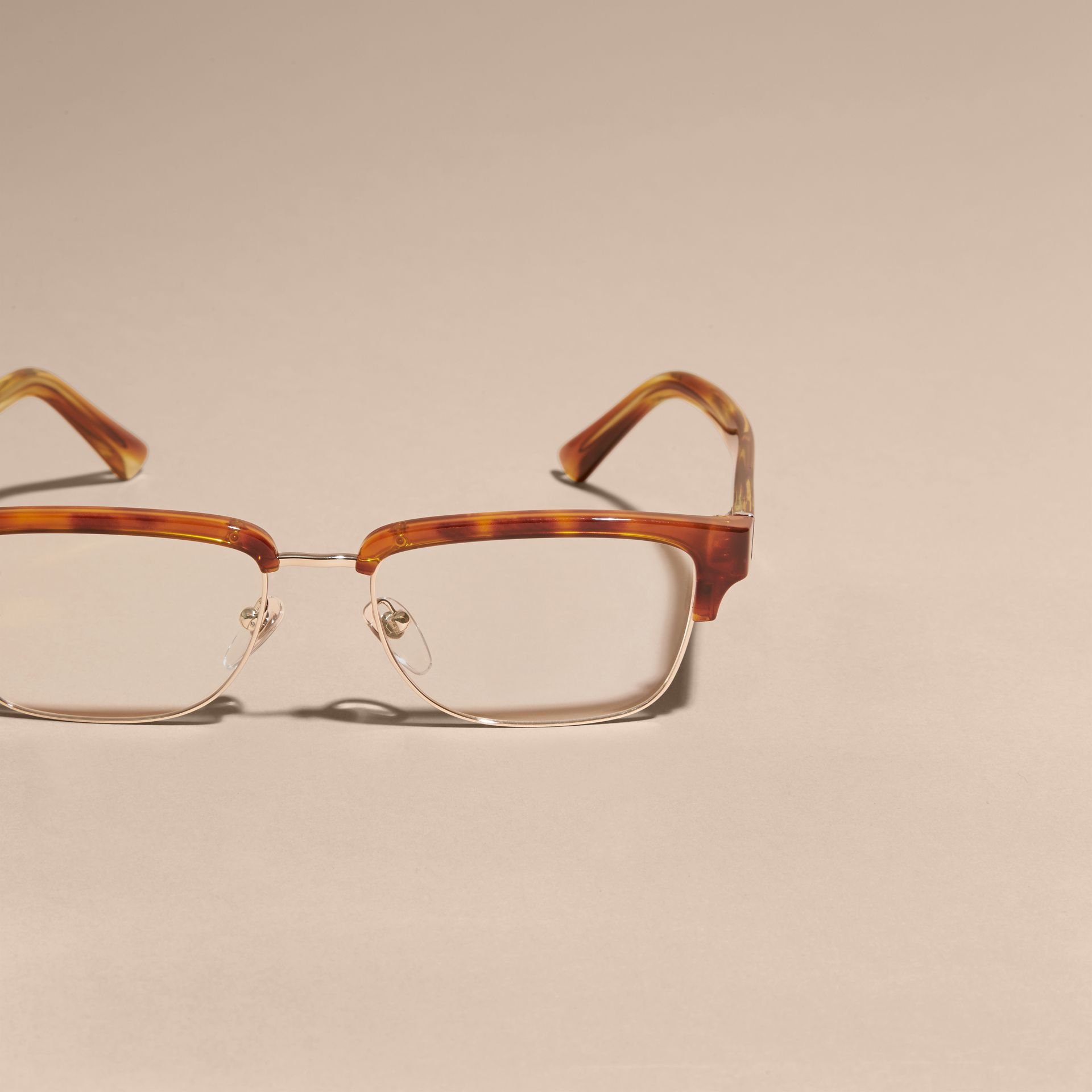 Light russet brown Half-rimmed Oval Optical Frames Light Russet Brown - gallery image 3