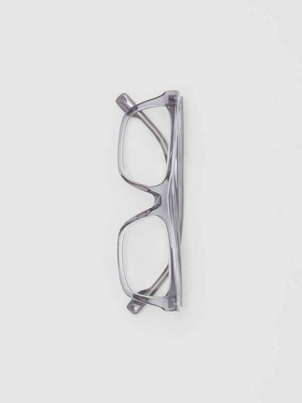 Rectangular Optical Frames in Grey - Men | Burberry Australia - cell image 3