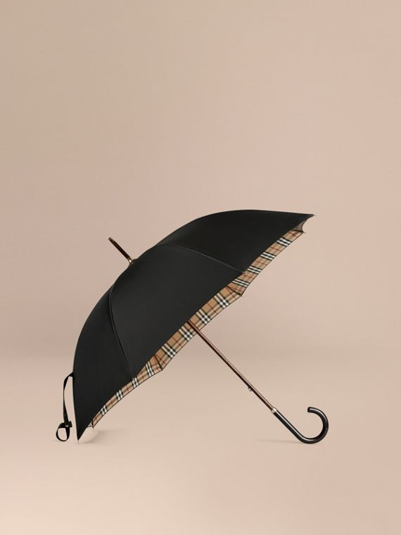 Heritage Check-lined Walking Umbrella | Burberry
