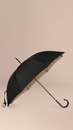 Parapluie canne doublé du motif check