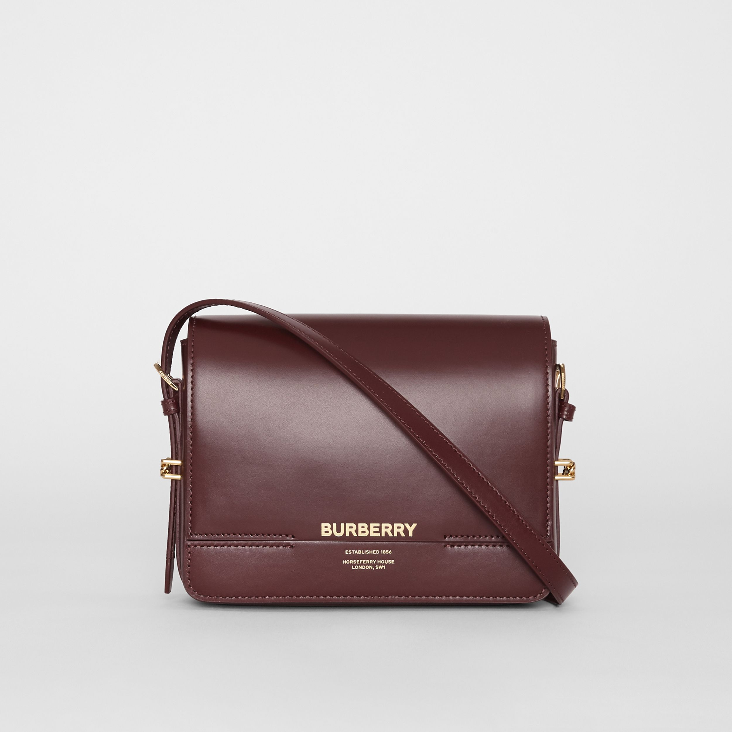 Small Leather Grace Bag in Oxblood - Women | Burberry - 1