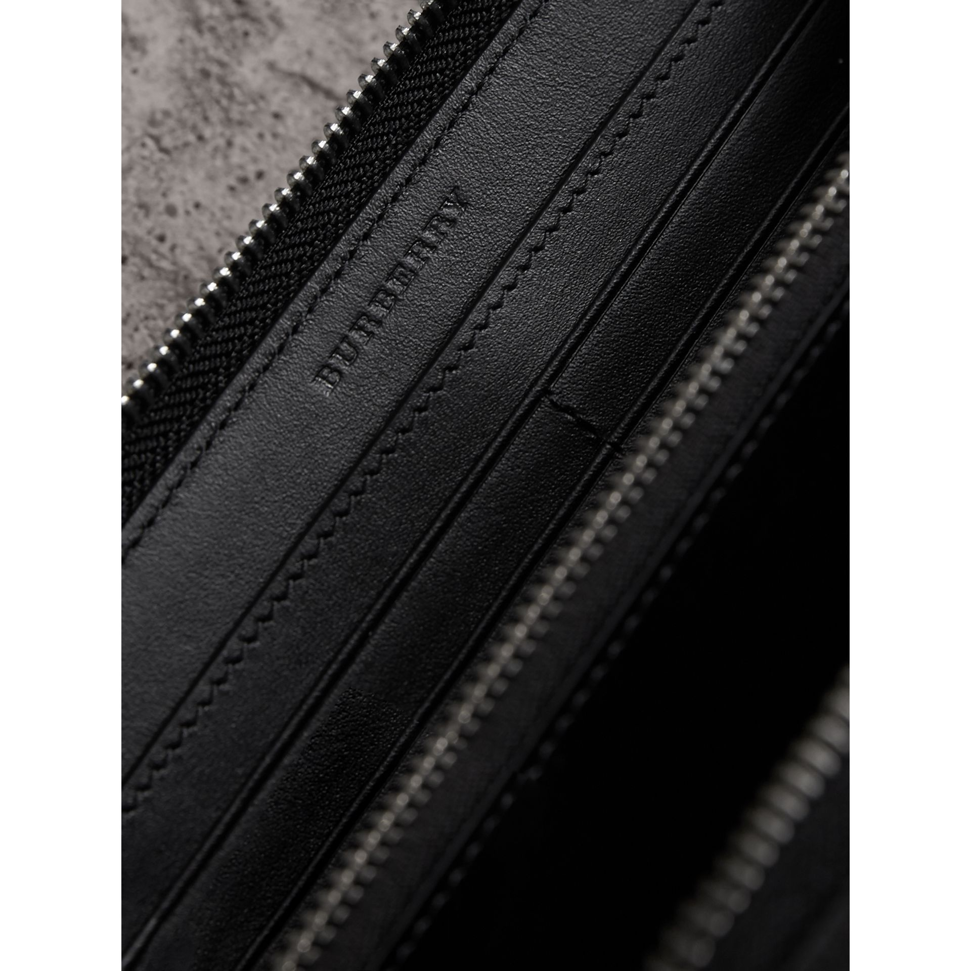 London Check Ziparound Wallet in Charcoal/black - Men | Burberry United Kingdom - gallery image 1