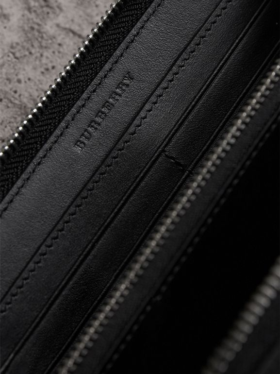 London Check Ziparound Wallet in Charcoal/black - Men | Burberry Australia - cell image 1
