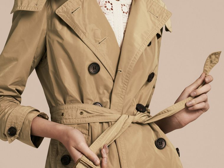 Sisal Trench coat en tafetán con capucha de quita y pon Sisal - cell image 4