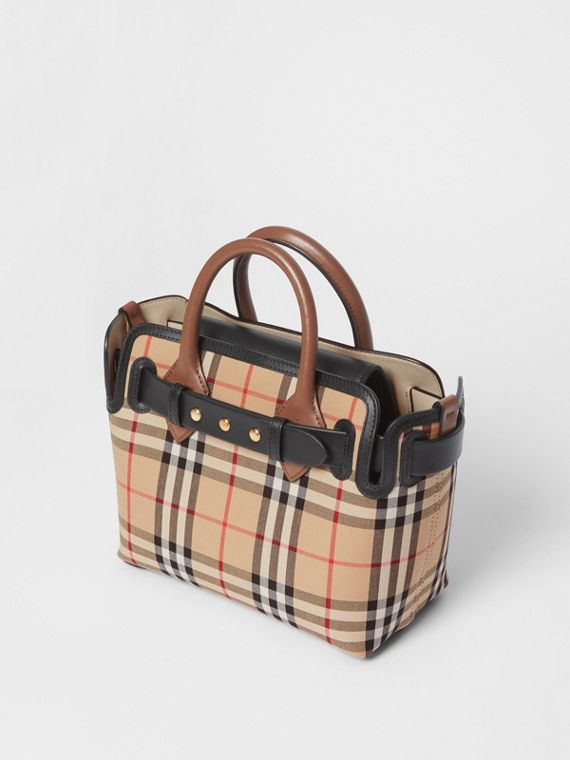 The Mini Vintage Check Triple Stud Belt Bag in Archive Beige