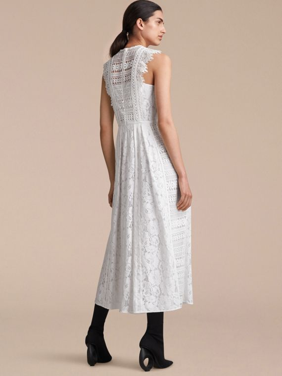 Sleeveless Macramé Lace Dress - cell image 2
