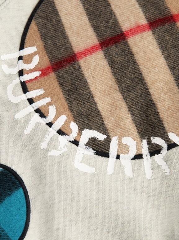 Check Appliqué Cotton Sweatshirt in Multicolour | Burberry - cell image 1