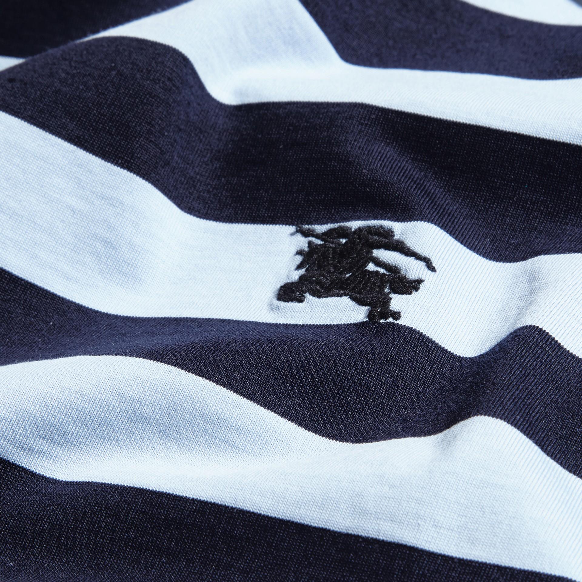 Navy T-shirt in cotone a righe Navy - immagine della galleria 2