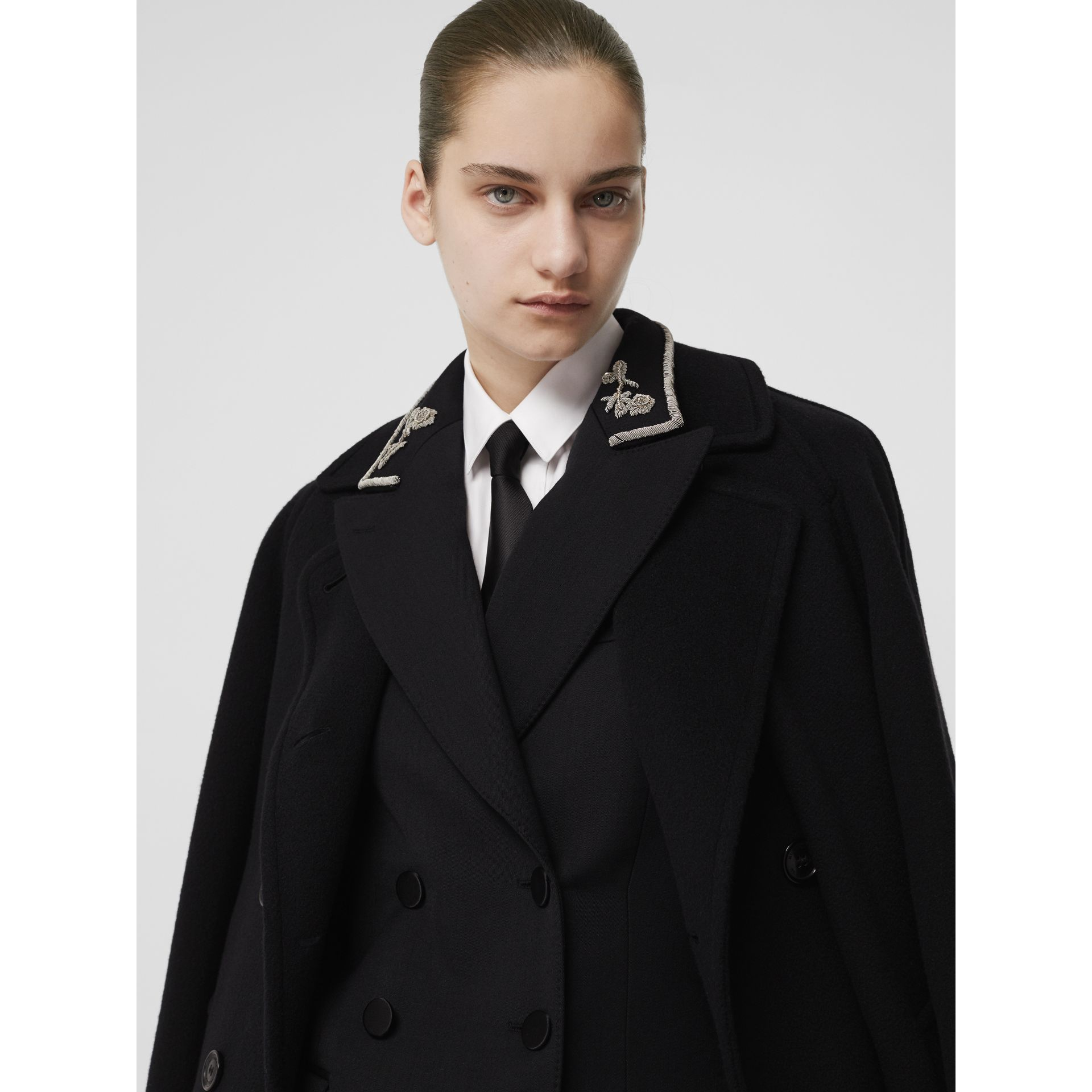 Double-faced Cashmere Tailored Coat in Black - Women | Burberry United Kingdom - gallery image 1