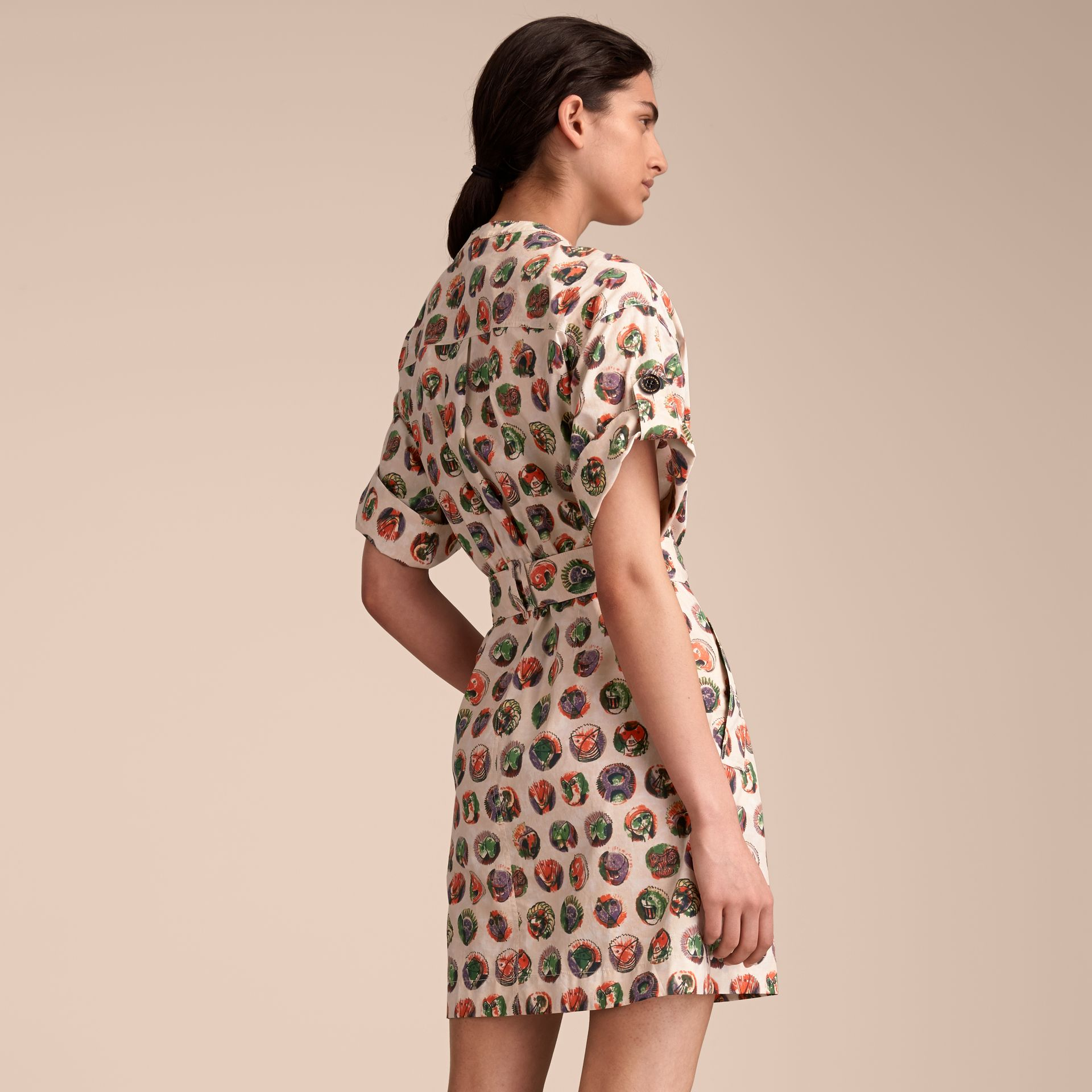 Pallas Heads Print Stretch Cotton Shirt Dress - gallery image 2