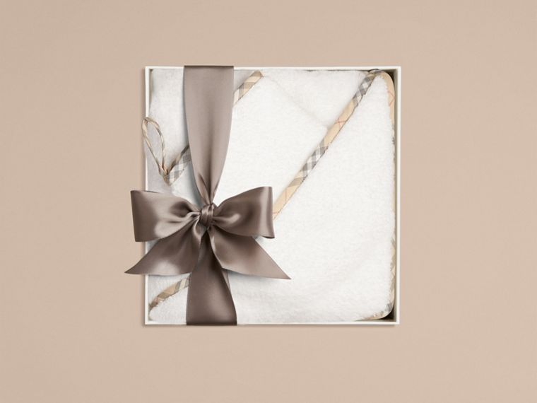 Baby Bathing Gift Set in White - Children | Burberry Canada - cell image 1
