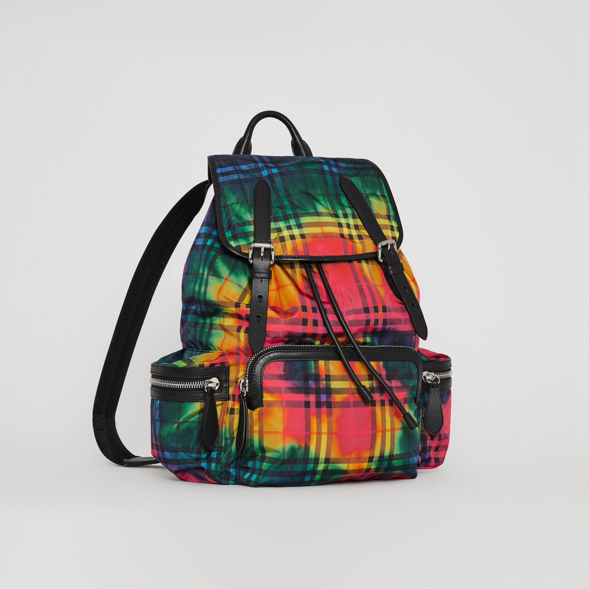 The Large Rucksack in Tie-dye Vintage Check in Multicolour | Burberry - gallery image 6