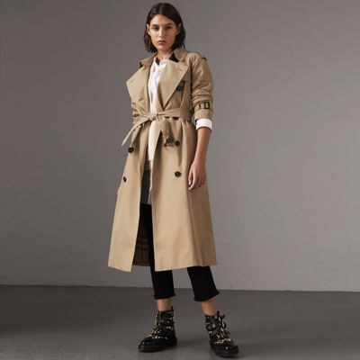 The Westminster – Extra-long Trench Coat in Honey