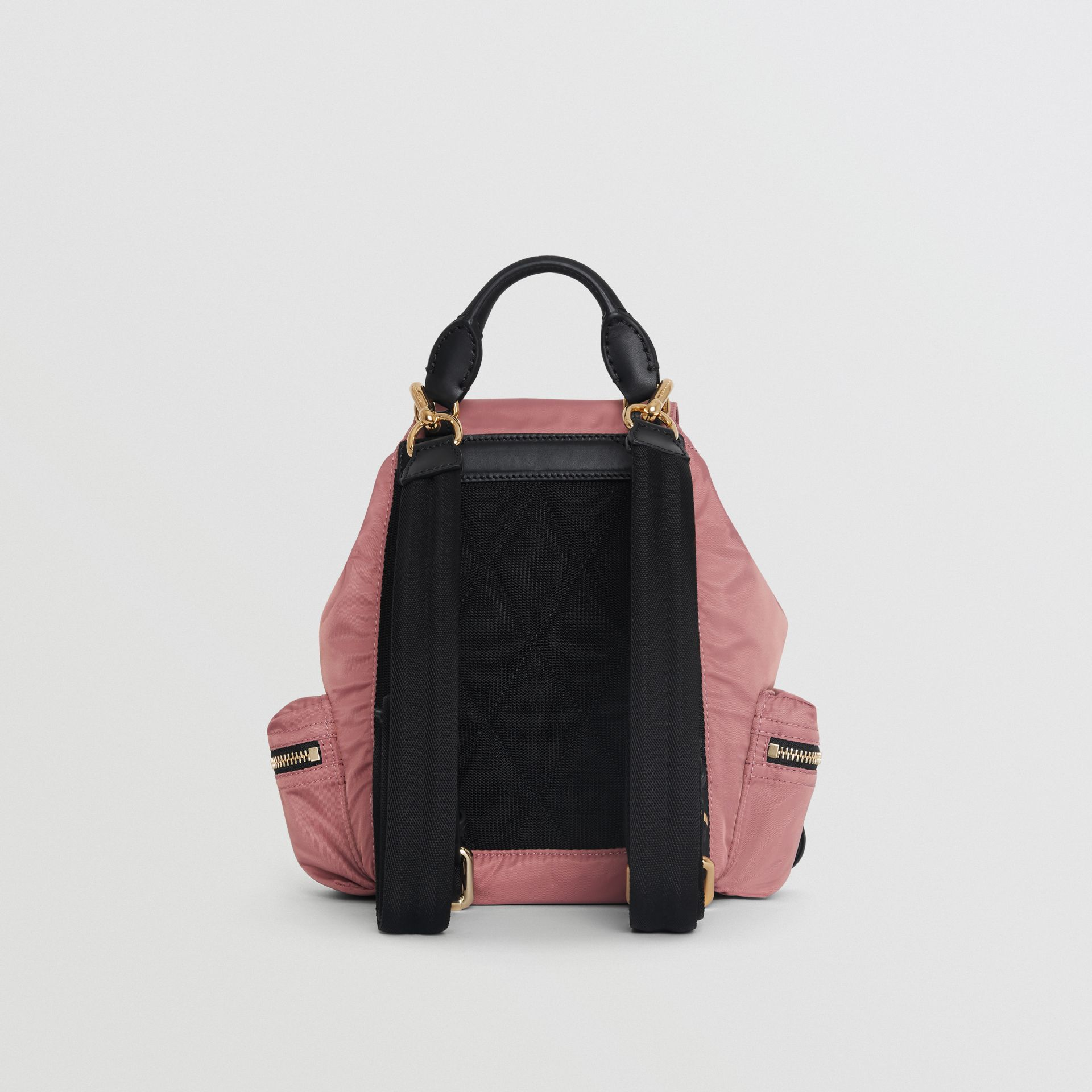 The Small Crossbody Rucksack in Nylon in Mauve Pink - Women | Burberry - gallery image 7