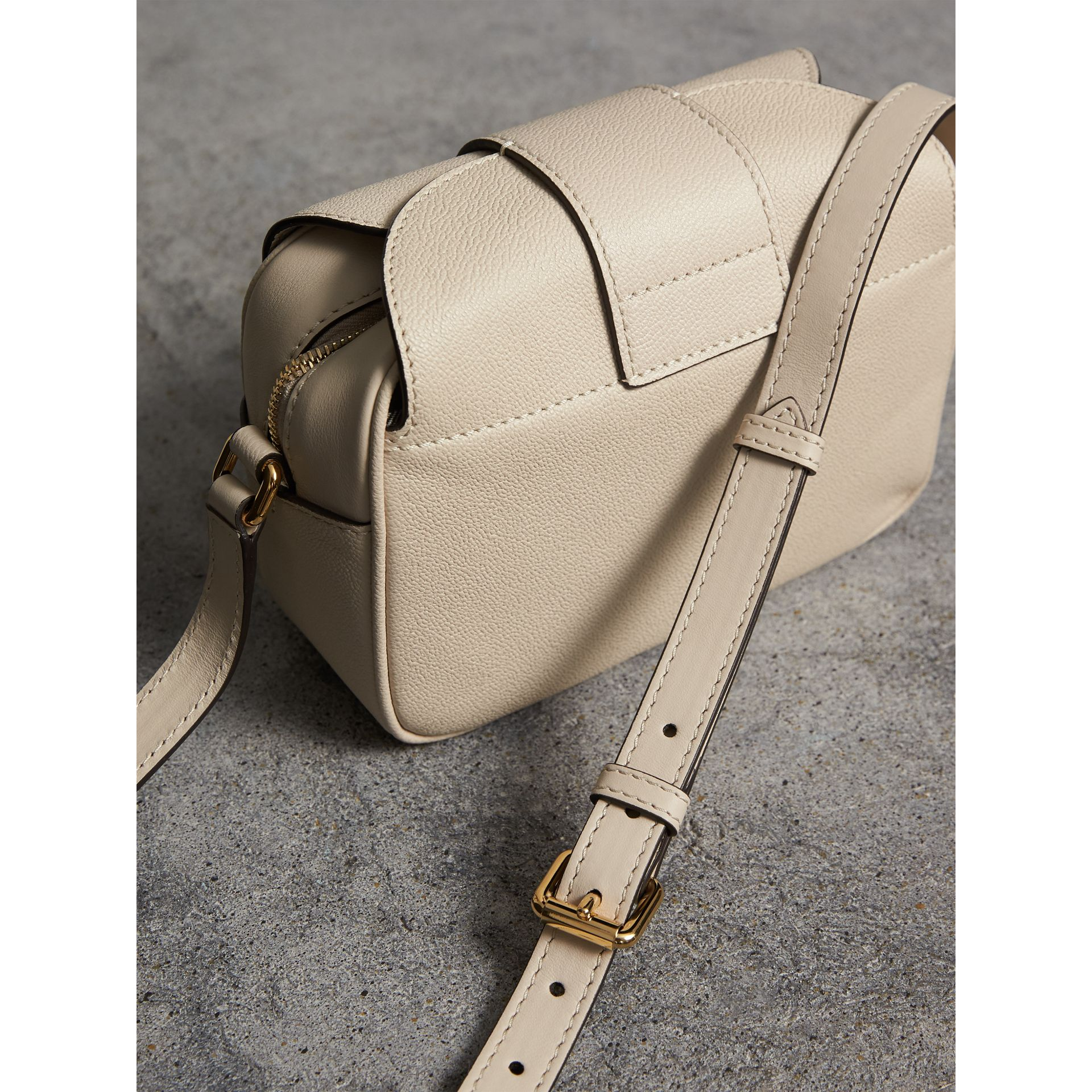 The Small Buckle Crossbody Bag in Leather in Limestone - Women | Burberry - gallery image 3