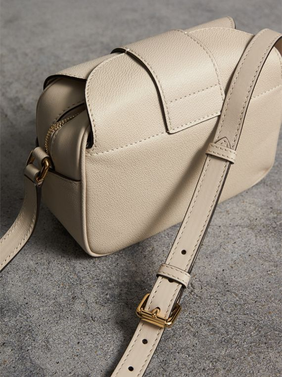 The Small Buckle Crossbody Bag in Leather in Limestone - Women | Burberry - cell image 3