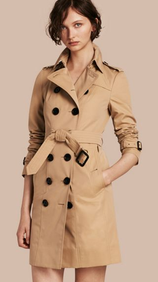 Trench Coat with Check and Heart Lining