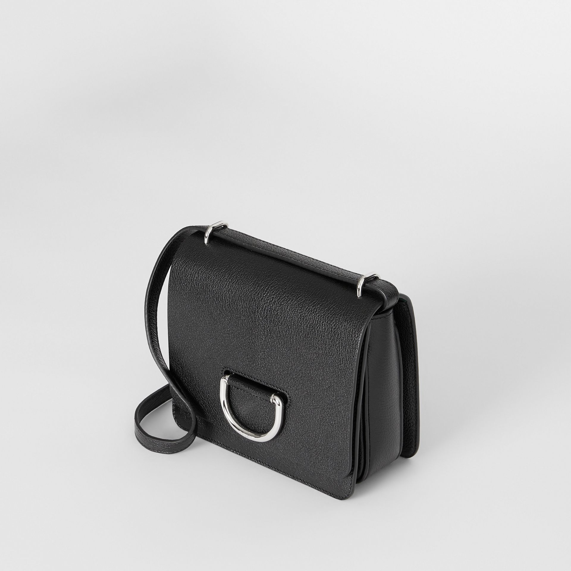 The Small Leather D-ring Bag in Black - Women | Burberry United States - gallery image 3